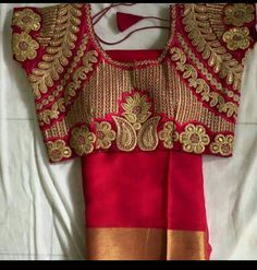 All Ethnic Customization with Hand Embroidery & beautiful Zardosi Art by Expert & Experienced Artist That reflect in Blouse , Lehenga & Sarees Designer creativity that will sunshine You & your Party Worldwide Delivery. Bridal Blouse Designs, Saree Blouse Designs, Blouse Patterns, Blouse Styles, Maggam Work Designs, Indian Blouse, Lehenga Blouse, Blouse Models, Indian Textiles