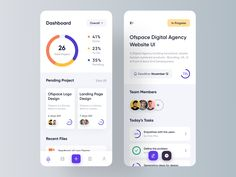 "Project Management Mobile App.  Press ""L"" if you like it. ✉️ Have a project idea? We are available for new projects hello@ofspace.co   🔥 We will provide a quick analysis and a free proposal for it...."
