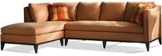 "Grade 8 Affirmed Beige - Add nailhead trim around the base and upgrade to the ""Comfort Down"" cushions"