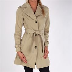 Ellen Tracy Water Repellent Belted Trench Coat #VonMaur #SpringFashion