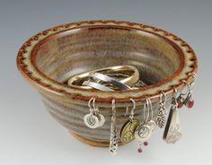 The Original Jewelry Bowl - Earring Holder - Earring Bowl- Handmade in Earthy Brown Glaze