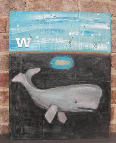 whale mixed media and encaustic Great Whale, Whales, Mixed Media, Symbols, Art, Art Background, Kunst, Whale, Performing Arts