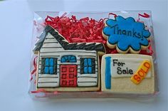 Great idea for my realtor friends. cookies