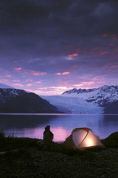 Kayaker Tent Camping At Dusk Pederson