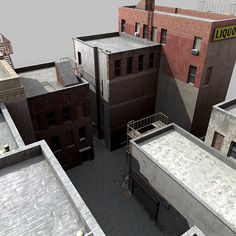 Model available on Turbo Squid, the world's leading provider of digital models for visualization, films, television, and games. 3d Building Models, Train Info, City Block, Model Trains, Buildings, Architecture, Building, Model Train, Architecture Design
