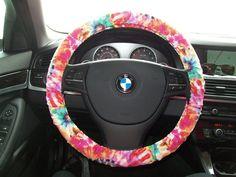 Tye Dye Steering Wheel Cover on Etsy, $14.00
