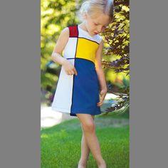 If I had a girl. Piet Mondrian, Mondrian Dress, Bauhaus, Elementary Art Rooms, Clothing Patterns, Kids Clothing, Textiles, Diy Clothes, Coats For Women