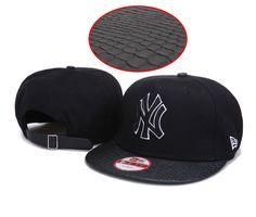 dfef30f94ce MLB New York Yankees Snapback Hats Caps Black Hats High quality snakeskin  3774! 8.90USD