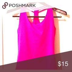 Pink Workout Tank Pink Strappy Workout Tank Tops Tank Tops