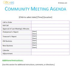 meeting agenda template community more agenda templates places to ...