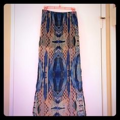 Long Kendall & Kylie Tribal Print Skirt Like-new. From PacSun Kendall and Kylie Collection. I have a small listed in my closet as well. Kendall & Kylie Skirts Maxi