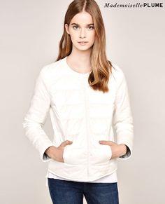 Doudoune réversible | Avidown - Powder blue off white | Vêtements mode femmes : Comptoir des Cotonniers
