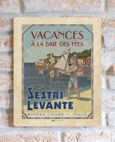 Sestri Levante | TARGA | Vimages - Immagini Originali in stile Vintage