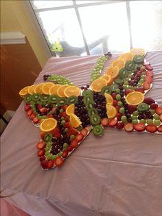 butterfly fruit tray! so fun!