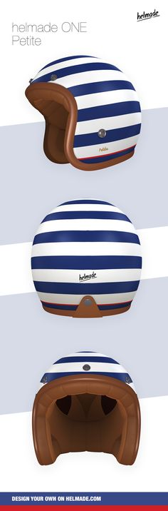 #helmade ONE in #marine #colors. A #fashion inspired #lady helmet designed by #BRAUN product designer Dennis Johann Müller. :-) Design your own on www.helmade.com