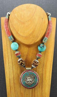 Dharmashop.com - One of a Kind Vintage Tibetan Necklace, $349.00 (http://www.dharmashop.com/one-of-a-kind-vintage-tibetan-necklace/)