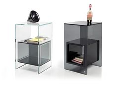 milan-based studio klass has designed 'magique' a welded glass furniture collection for liv'it by fiam that includes two side tables Glass Furniture, Unique Furniture, Contemporary Furniture, Industrial Design Furniture, Modern Interior Design, Furniture Design, Lucite Coffee Tables, Glass Side Tables, Decoration