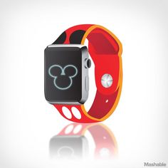 Mickey and Minnie Mouse print Apple Watch.