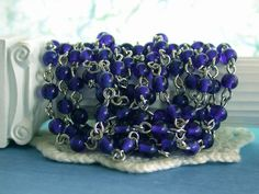 Hey, I found this really awesome Etsy listing at https://www.etsy.com/listing/159272411/rosary-chain-beaded-chain-cobalt-bead