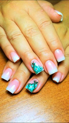 Baby boomer and one-stroke nail art
