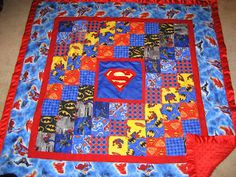 I went a bit themed this year. The boys all got superhero piggy banks, pj& and quilts. They absolutely loved it all though. It took a lo. Batman Quilt, Superhero Quilt, Superhero Room, Quilt Baby, Quilting Projects, Quilting Designs, Sewing Projects, Superman Baby, Superman Room