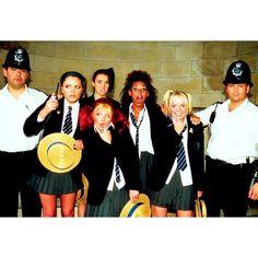 """Girls behaving badly! ✌️ #spicegirls #spiceworld #Polaroid #SpiceCam #girlpower #Posh #Sporty #Ginger #Scary #Baby #London #advert #90s"""