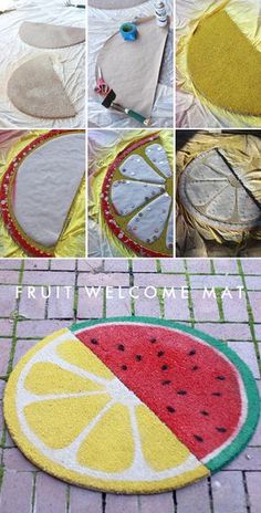 via The House That Lars Built.: Weekend project: Fruit welcome mats