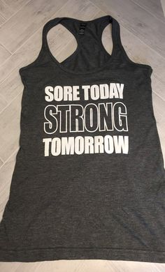 Cute Workout Tanks, Workout Attire, Gym Wear, Racerback Tank, Activewear, Athletic Tank Tops, Fitness Motivation, Strong, Etsy Shop