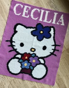 Ravelry: Troila's Hello Kitty C2c, Afghans, Cuddling, Ravelry, Knit Crochet, Hello Kitty, Snoopy, Kids Rugs, Pure Products