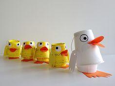 paper cup animals craft - Buscar con Google