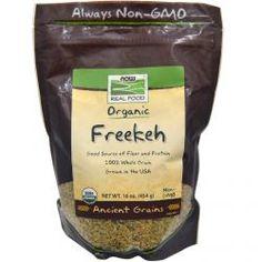 Now Foods, Organic Freekeh, 16 Oz (454 G), Diet Suplements 蛇