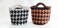 千鳥柄のバッグ | 編み物キット販売・編み方ワークショップ|イトコバコ