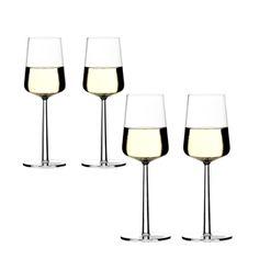 Essence Vitvinglas från Iittala 33 cl, höjd: 230 mm. Förpackningen innehåller fyra glas.Essence Vitvinglas från Iittala 33 cl, höjd: 230 mm.