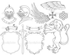 Knight Coat of Arms Art.