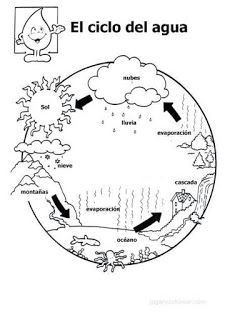 Water Cycle Coloring Sheets water cycle coloring pages for kids Water Cycle Coloring Sheets. Here is Water Cycle Coloring Sheets for you. Water Cycle Coloring Sheets simple water cycle coloring page free printable . Science Fair, Science Lessons, Teaching Science, Science For Kids, Social Science, Science And Nature, Learning Activities, Kids Learning, Cycle Drawing