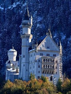 Neuschwanstein Castle, Germany-you have to hike to Mary's Bridge for the great views of the castle with the Alps in the background