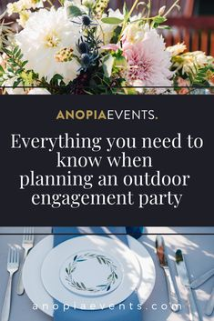 Thinking about planning an outdoor engagement party? We share our tips and tricks to make your event a success! Engagement Party Planning, Engagement Parties, Engagement Party Decorations, Table Decorations, Success, Party Ideas, Make It Yourself, How To Plan, Tips