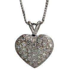 Platinum Pave-Set Diamond Heart Pendant Da'Carli. $3100.00. 9.41 grams total pendant weight in solid platinum.. This Pendant is set with 36 GH-SI diamonds weighing 1.35 ct. (All diamonds 0.75 and up with a color range of D-I are GIA Certified). Call 1(888) 527-9422 for a different combination of gemstones, 18k, Yellow Gold, or Platinum. When calling, please, provide the model number: 4229ALT03. Free Standard Shipping with this item!. Free Pendant Box included with this item!