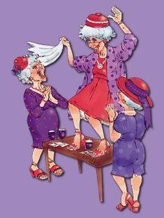 Dançar em cima da mesa... Ainda teremos um momento desse?!! Ok, ok. Apenas dançar, então... Você precisa clicar para aumentar a imagem e se divertir!!