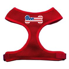 Mirage Pet Products Bone Flag USA Screen Print Soft Mesh Dog Harnesses Small Red >>> See this great product.Note:It is affiliate link to Amazon.