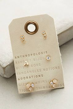 Gifts for all at anthropologie Letter Earrings cebcd3dc43b8a