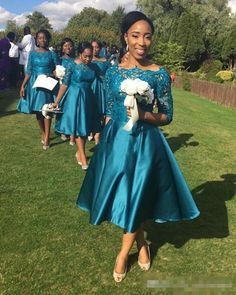 Bohemian Hippie Bridesmaid Dresses 2017 Teal Lace Maid Of Honor Gowns Formal Wedding Guest Dress Half Sleeve Tea-length Cheap A-line Hippie Bridesmaid Dresses, Bridesmaid Dresses With Sleeves, Half Sleeve Dresses, Tea Length Dresses, Long Wedding Dresses, Half Sleeves, Formal Wedding, Dress Wedding, Prom Dresses