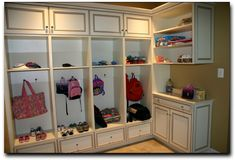 mudroom design ideas - The Best Mudroom Lockers for Your Gymnasium – Interior Design Mudroom Cabinets, Storage Cabinets, Upper Cabinets, Cupboards, Custom Closets, Bench Furniture, Custom Cabinetry, Home Organization, Organization Station