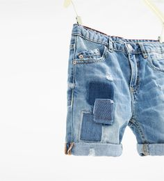 Denim Bermuda shorts with patches-Collection-BOY | 4 - 14 years-NEW IN | ZARA United States