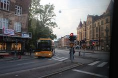 A bus tour in central Malmoe