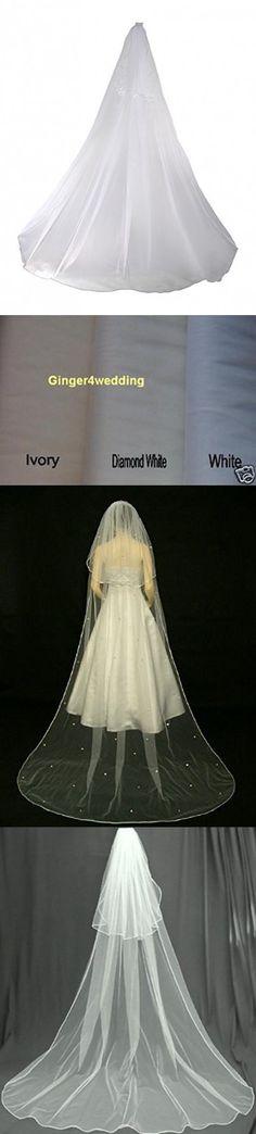 Shop Ginger Wedding Womens 2T Swarovski Crystal Bridal Veil One Size Ivory