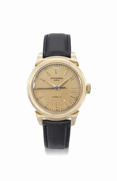 Patek Philippe. A fine and attractive 18K pink gold wristwatch with indirect sweep centre seconds seconds, pink dial and scroll lugs. Manufactured in 1946 #ChristiesWatches