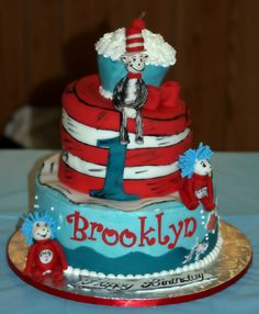 """Brooklyn's 1st birthday cake. Made by """"Cakes by Tanya"""""""