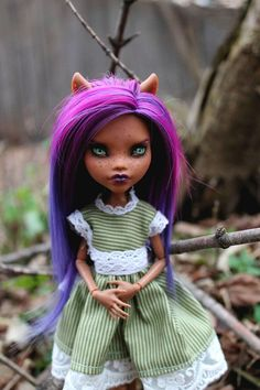Monster High Clawdeen Wolf OOAK Custom Doll Repaint
