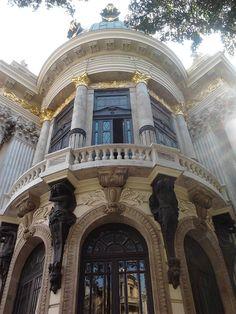 The Theatro Municipal (Municipal Theatre) of Rio de Janeiro is located in Cinelândia (Praça Marechal Floriano) in the city center of Rio de Janeiro, Brazil. Built in the beginning of the twentieth century.